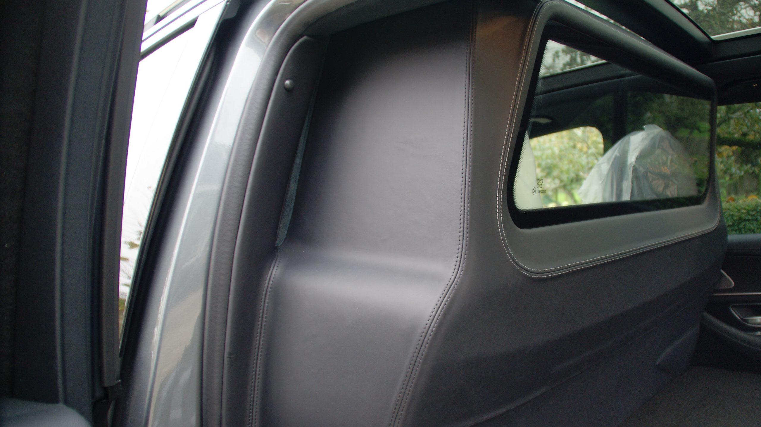 grijs kenteken ombouw mercedes gle w167 luxe lederen wand