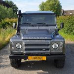 grijs kenteken ombouw land rover defender 110 pickup